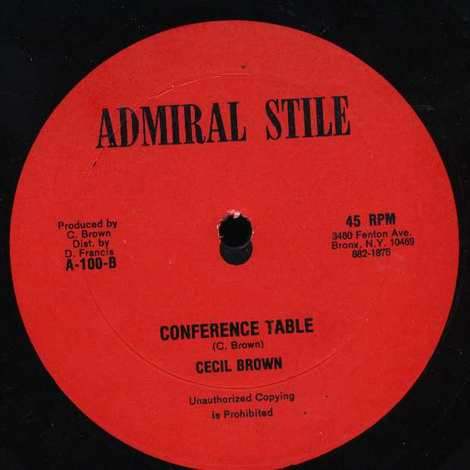 CECIL BROWN/CONFERENCE TABLE